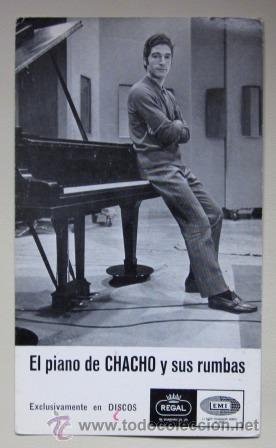 CHACHO - POSTAL ORIGINAL - EL PIANO DE CHACHO Y SUS RUMBAS - 1968 (Música - Fotos y Postales de Cantantes)