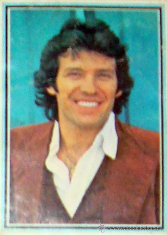CROMO ALBUM TELE-STARS 1978 EDICIONES ESTE-SECCIÓN VOCES FAMOSAS LORENZO SANTAMARÍA Nº 132 (Música - Fotos y Postales de Cantantes)