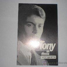 Fotos de Cantantes: TONY DISCOS VERGARA. Lote 36614446