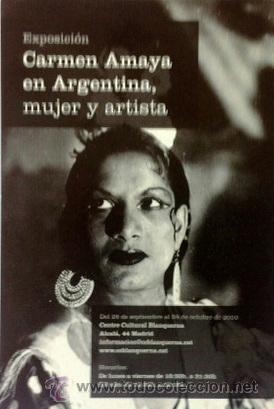 CARMEN AMAYA - POSTAL EXPOSICIÓN 2010 (Música - Fotos y Postales de Cantantes)
