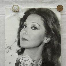Fotos de Cantantes: FOTOGRAFÍA MARIFE DE TRIANA, DEDICADA Y FIRMADA. AÑOS 60/70. MARÍA FELISA MARTÍNEZ LÓPEZ. Lote 37473103