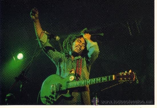 POSTAL DE BOB MARLEY (Música - Fotos y Postales de Cantantes)