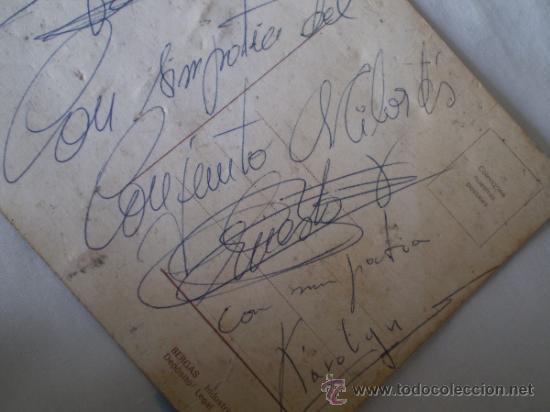 Fotos de Cantantes: ANTIGUA POSTAL GRUPO MILORDS ,REUS,TARRAGONA,AUTOGRAFIADA AÑOS 60 - Foto 3 - 39147075