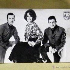 Fotos de Cantantes: TARJETA PUBLICITARIA, GRUPO MUSICAL, LOS 3 (TRES) DE CASTILLA, PHILIPS, 1969. Lote 40716407