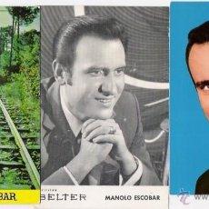 Fotos de Cantantes: MANOLO ESCOBAR -3 POSTALES AÑOS 60. Lote 41004125