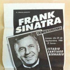Fotos de Cantantes: ANUNCIO DEL CONCIERTO DE FRANK SINATRA EN MADRID. DÍA 25 DE ENERO 1986. RECORTE DEL PERIÓDICO ABC.. Lote 41746719