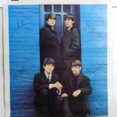 Fotos de Cantantes: POSTER ORIGINAL THE BEATLES 1963, LONDON PALLADIUM ROYAL COMMAND PERFORMANCE. CON FIRMAS IMPRESAS DE. Lote 42068868