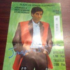 Fotos de Cantantes: ENTRADA - JOAQUIN SABINA - AÑO 1995 - PLAZA TOROS DE LOGROÑO. Lote 42719208