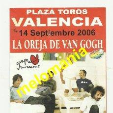 Fotos de Cantantes: LA OREJA DE VAN GOGH_GUAPA TOUR SEAT 2006 PROMOCION. Lote 42938603