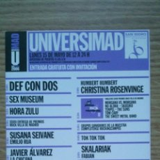 Fotos de Cantantes: INVITACIÓN UNIVERSIMAD 2006 - SAN ISIDRO - MADRID. Lote 43300510