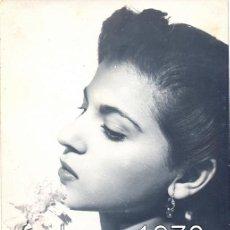 Fotos de Cantantes: FOTOGRAFIA ORIGINAL DE CARMEN FLORES, 88X140MM. Lote 45853792