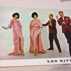 Fotos de Cantantes: ANTIGUA POSTAL O FOTOGRAFIA PROMOCIONAL LOS RIVERO - DISCOS ZAFIRO.. Lote 46341786
