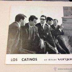 Fotos de Cantantes: ANTIGUA POSTAL O FOTOGRAFIA PROMOCIONAL LOS CATINOS - DISCOS VERGARA. Lote 46342055