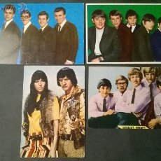 Fotos de Cantantes: THE SHADOWS / THE ANIMALS / SONNY & CHER / HERMAN'S HERMITS/ LOTE POSTALES . Lote 47436215