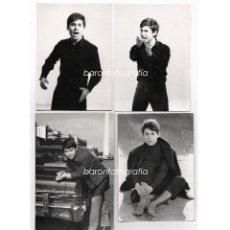 Fotos de Cantantes: RAPHAEL, 8 FOTOGRAFÍAS ORIGINALES DEL CANTANTE, 1960'S. TAMAÑO 12X16,5 CM. VER REVERSOS. Lote 47778139