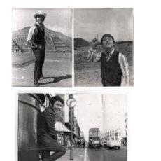 Fotos de Cantantes: RAPHAEL, LOTE DE 8 FOTOGRAFÍAS ORIGINALES DEL CANTANTE, 1960'S. FOTOS: JUANITA BIARNÉS Y OTROS, VER.. Lote 47780185