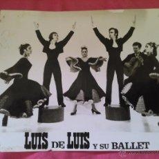 Foto di Cantanti: BALLET LUIS DE LUIS. FOTO FORMATO GRANDE CON DEDICATORIA AL DORSO. Lote 48826419