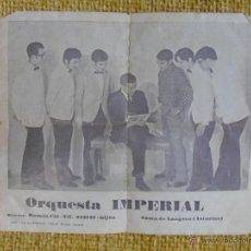 Fotos de Cantantes: ORQUESTA IMPERIAL. SAMA DE LANGREO (ASTURIAS). DIRECTOR: RAMON CID. FOTO PUBLICITARIA.. Lote 50763877