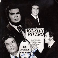 Fotos de Cantantes: FOTOGRAFIA ORIGINAL AUTOGRAFIADA AGUSTIN RIVERO, 200X255 MM. Lote 50968303