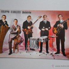 Fotos de Cantantes: FOTO POSTAL DISCOGRAFIA DE FILIPPO CARLETTI QUINTETO. TDKP5. Lote 51390253