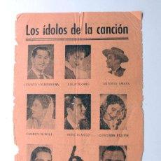 Fotos de Cantantes: LOS IDOLOS DE LA CANCION / LOLA FLORES - JUANITO VALDERRAMA - MANOLO CARACOL - CONCHITA PIQUER -. Lote 51607584