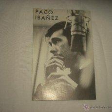 Fotos de Cantantes: PACO IBAÑEZ . ARTISTA EXCLUSIVO DE DISCOS SONOPLAY. Lote 53063300