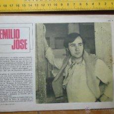 Fotos de Cantantes: HOJA PUBLICITARIA - 1959 A 2 CARAS . CANTANTE EMILIO JOSE. Lote 53079039