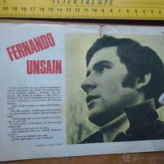 Fotos de Cantantes: HOJA PUBLICITARIA - 1959 A 2 CARAS . CANTANTE FERNANDO UNSAIN . Lote 53079061
