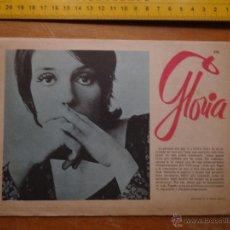 Fotos de Cantantes: HOJA PUBLICITARIA - 1971 A DOS CARAS - CANTANTE GLORIA - FOLK SONG. Lote 53079303
