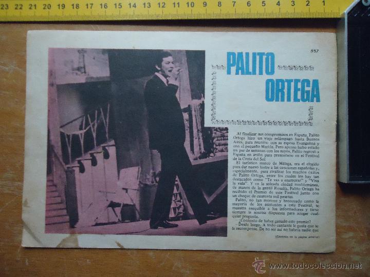 HOJA PUBLICITARIA - A DOS CARAS - 1968 CANTANTE PALITO ORTEGA (Música - Fotos y Postales de Cantantes)