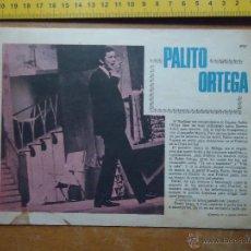 Fotos de Cantantes: HOJA PUBLICITARIA - A DOS CARAS - 1968 CANTANTE PALITO ORTEGA. Lote 53079429