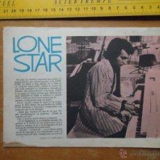 Fotos de Cantantes: HOJA PUBLICITARIA - A DOS CARAS - 1970 CANTANTE LONE STAR. Lote 53079473