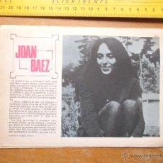 Fotos de Cantantes: HOJA PUBLICITARIA - A DOS CARAS - 1959 CANTANTE - JOAN BAEZ. Lote 53079494