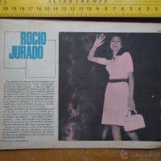 Fotos de Cantantes: HOJA PUBLICITARIA - 1959 A DOS CARAS, - CANTANTE ROCIO JURADO . Lote 53079642