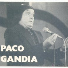 Fotos de Cantantes: PACO GANDÍA. FICHA DISCOGRÁFICA. Lote 53085848