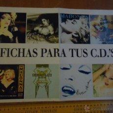 Fotos de Cantantes: MADONNA REINA DEL POP - POSTER CON FICHAS PARA CD . Lote 53105242