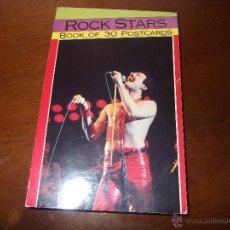 Fotos de Cantantes: BOOK OF 30 POSTCARDS -ROCK STARS- MICK JAGERS/FREEDY MERCU /JON BON JOVI/DAVID BOWIE/ . Lote 53599690