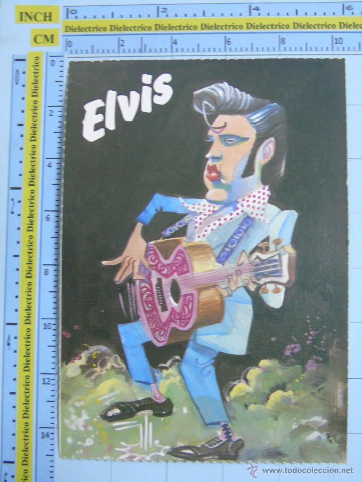 POSTAL DE MÚSICA. AÑOS 80. REVISTA EL JUEVES. CARICATURA DEL CANTANTE ELVIS PRESLEY (Música - Fotos y Postales de Cantantes)