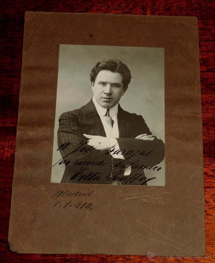 FOTOGRAFIA DEL BARITONO TITTA RUFFO (RUFFO CAFIERO TITTA), (1877 - 1953), CANTANTE DE ÓPERA ITALIANO (Música - Fotos y Postales de Cantantes)