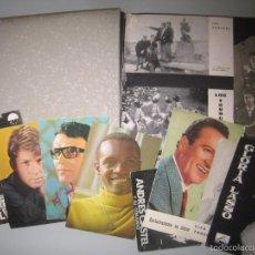 Fotos de Cantantes: INTERESANTE ALBUM CON POSTALES DE GRUPOS MUSICALES Y CANTANTES. Lote 55690276