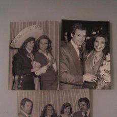 Fotos de Cantantes: INTERESANTE LOTE 3 FOTOS ORIGINALES DE LA CANTANTE ROCIO JURADO AÑOS 70 PEDRO CARRASCO. Lote 55694988
