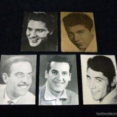 Fotos de Cantantes: LOTE DE 5 FOTO FICHA OBSEQUIO DE LA REVISTA CLARO DE LUNA. CANTANTES. AÑOS 60. Lote 56265426