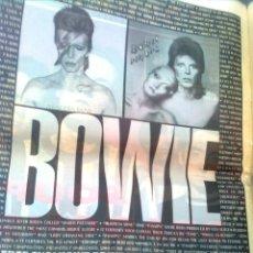 Fotos de Cantantes: DAVID BOWIE - RECORTE POSTER PROMO ORIGINAL REVISTA MELODY MAKER 1990. Lote 57619529