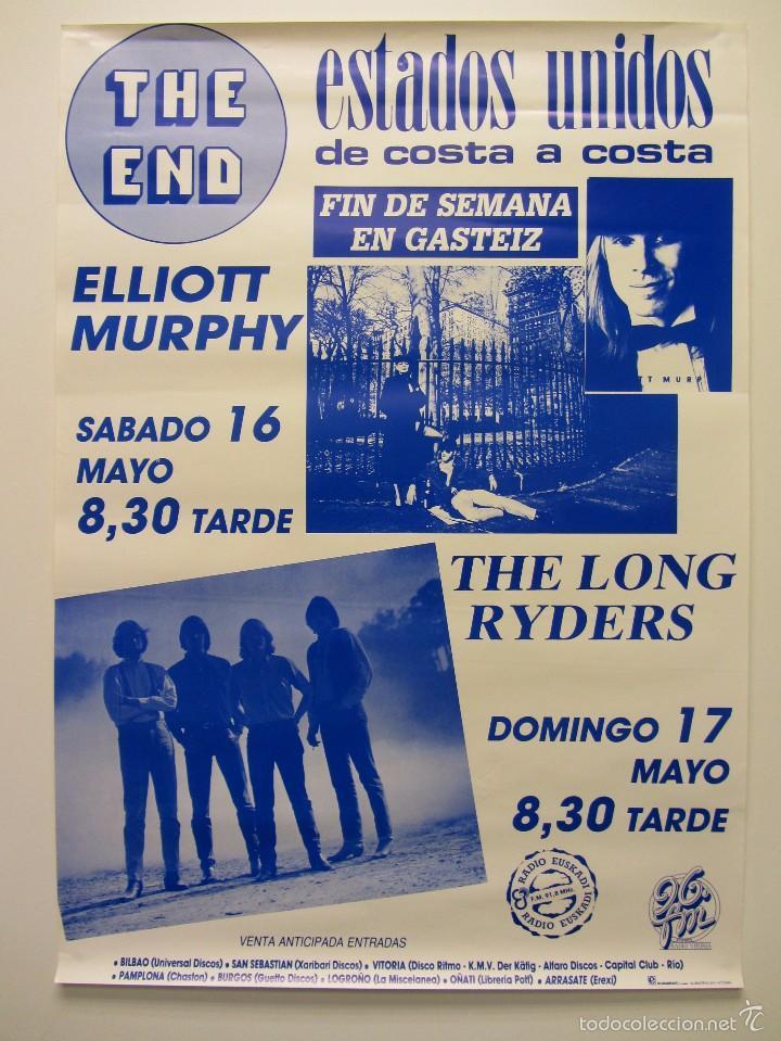 ELLYOT MURPHY/THE LONG RYDERS ORIGINAL CONCERT POSTER 50X70 (VITORIA.GASTEIZ) (Música - Fotos y Postales de Cantantes)