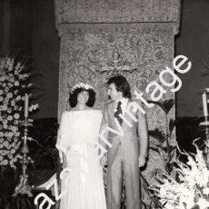 Fotos de Cantantes: CUENCA,1977, FOTOGRAFIA DE BODA DE JOSE LUIS PERALES, RARISIMA,180X240MM. Lote 58812356