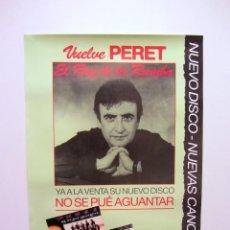 """Fotos de Cantantes: PERET """"NO SE PUÉ AGUANTAR"""" (1991). CARTEL PROMOCIONAL DEL ÁLBUM. PDI. Lote 59514675"""