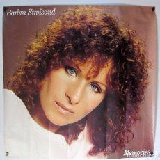 Fotos de Cantantes: BARBARA STREISAND. MEMORIES CARTEL ORIGINAL 90X90. Lote 61751852