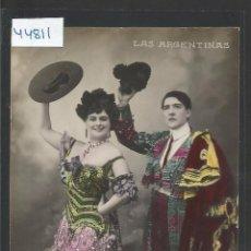 Photos de Chanteurs et Chanteuses: LAS ARGENTINAS - POSTAL ANTIGUA - VER REVERSO - (44.811). Lote 62549312