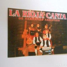 Fotos de Cantantes: LA RIOJA CANTA. DE HERMANAS ARBONIES. TDKP8. Lote 83988552