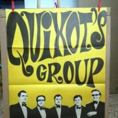 Fotos de Cantantes: CARTEL 100X70 CM APROX DEL GRUPO. QUIXOTS GROUP.1969.. Lote 68235193